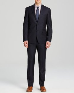 Slim Fit Solid Suit by John Varvatos Luxe in Need for Speed