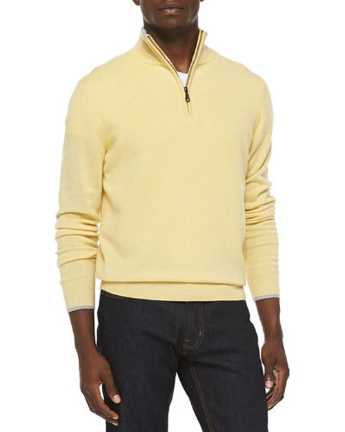 Cashmere Cloud Quarter-Zip Sweater by Neiman Marcus	 in Daddy's Home