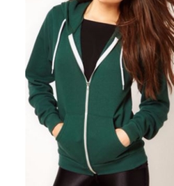 Unisex Flex Fleece Zip Hoodie by American Apparel in New Girl