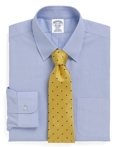 Non-Iron Regent Fit Tab Collar Dress Shirt by Brooks Brothers in Trainwreck