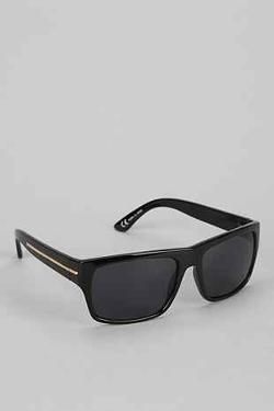 Matte Black & Silver Square Sunglasses by Urban Outfitters in Ride Along