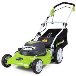 25022 12 Amp 20-in 3-in-1 Electric Lawn Mower by GreenWorks in St. Vincent