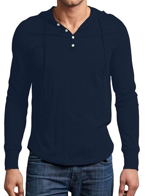 Pima Cotton Henley Hooded Sweater by Spenglish in The Fundamentals of Caring