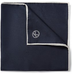 Wool And Silk-Blend Pocket Square by Drake's in Kingsman: The Secret Service