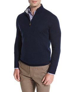 Merino Quarter-Zip Sweater by Peter Millar in Office Christmas Party