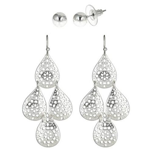 Silver Drop Earrings by Target in Limitless