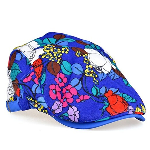 Art Flower Floral Blossom Flat Cap  by Locomo Hats in Chelsea