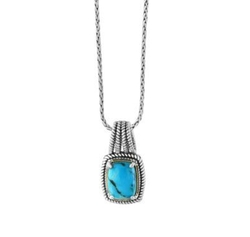 Turquoise, Goldplated and Silver Pendant Necklace by Effy in The Fate of the Furious