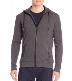 Heritage Zip-Front Hoodie by Hugo Boss in Joshy