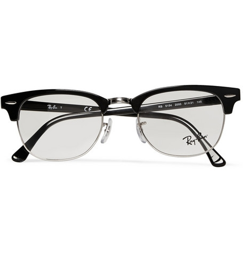 Clubmaster Acetate And Metal Optical Glasses by Ray-Ban in Bridge of Spies