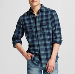 Flannel Button Down Shirt by Mossimo Supply Co. in New Girl