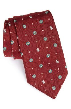 Rabbit Print Silk Tie by Paul Smith in The Wolf of Wall Street