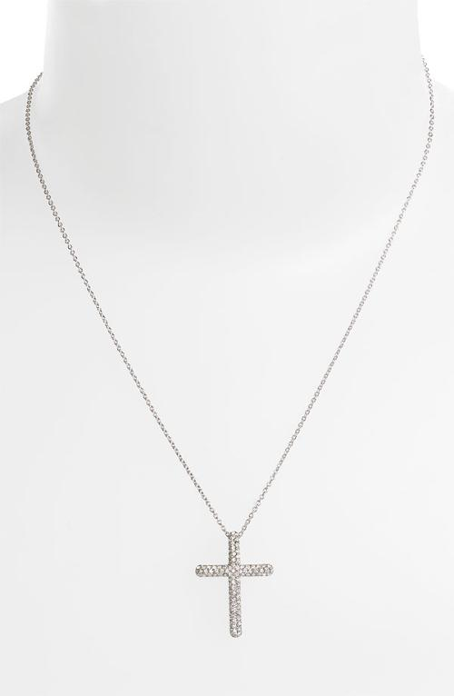 Small Cross Pendant Necklace by Nadri in Unbroken