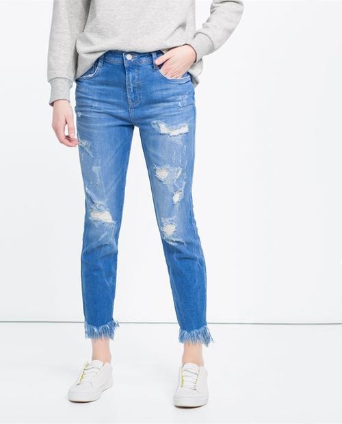 Slouchy Jeans by Zara in Pretty Little Liars - Season 7 Episode 6