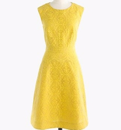 Textured Eyelet Jacquard Dress by J Crew in Supergirl