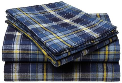 160-Gram Yarn-Dye Flannel Sheet Set by Pinzon in If I Stay