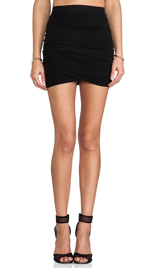 Marled Drape Jersey Skirt  by T By Alexander Wang  in Mistresses - Season 4 Episode 4
