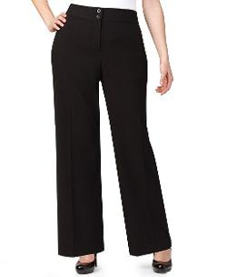 Plus Size Solid Wide-Leg Pants by Style&co. in Tammy