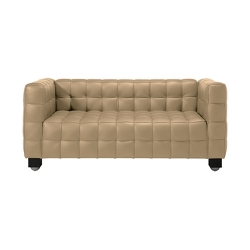 Josef Hoffmann Kubus 2 Seat Sofa by Wittmann in Spy