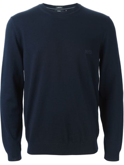 Crew Neck Sweater by Boss Hugo Boss in Arrow
