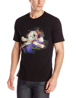 Men's Skull Printed T-Shirt by Robert Graham in Wet Hot American Summer