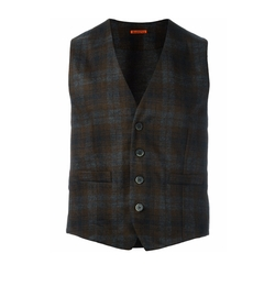 Checked Buttoned Vest by Barena in Ballers