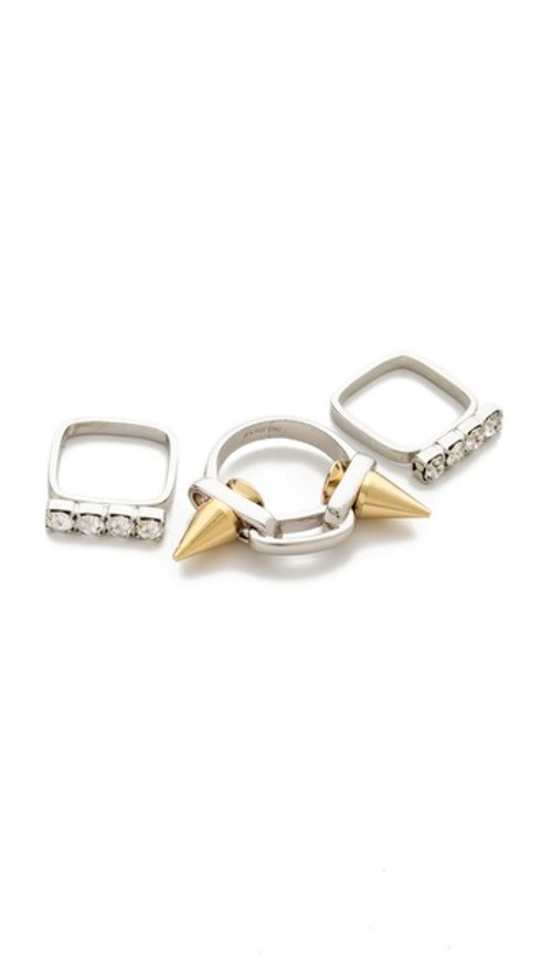 Baroque Punk Spike & Crystal Ring Set by Joomi Lim in Need for Speed