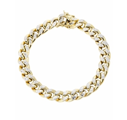 Hollow Pave Miami Cuban Link Bracelet by Frost NYC in Empire