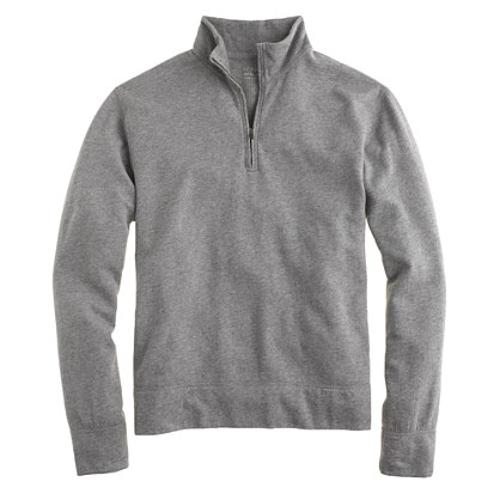 Reverse Waffle Half-zip Sweatshirt by J. Crew in Mortdecai