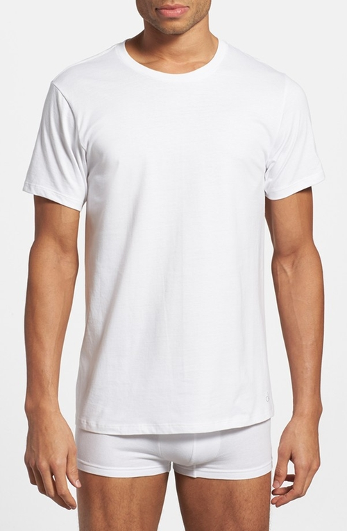 Cotton Crewneck T-Shirt by Calvin Klein in Poltergeist