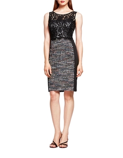 Lace And Tweed Sheath Dress by Kay Unger in Supergirl