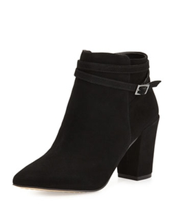 Lenna Suede Leather Boots by Steven By Steve Madden in Pretty Little Liars