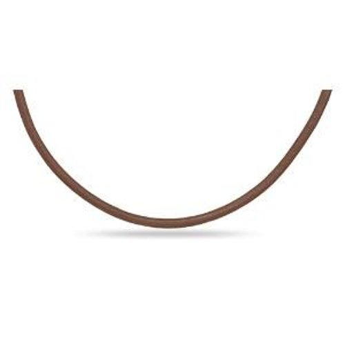 Brown Leather Necklace by AzureBella Jewelry in Drive