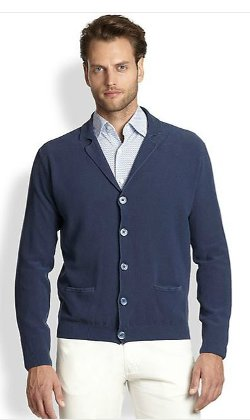 Pebble Textured Cardigan by Canali in The Other Woman