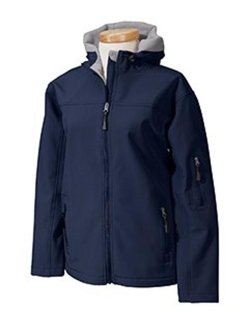 Ladies' Hooded Soft Shell Jacket by Devon & Jones in Interstellar