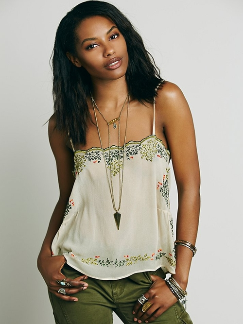 Embroidered Cami by Mes Demoiselles in Knock Knock