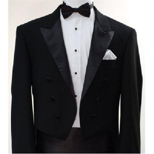 Italian Designer Men's Black Tail Tuxedo by King Formal Wear in The Great Gatsby