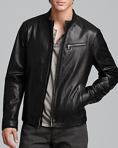 Tumbled Leather Moto Jacket by John Varvatos Star USA in Suicide Squad