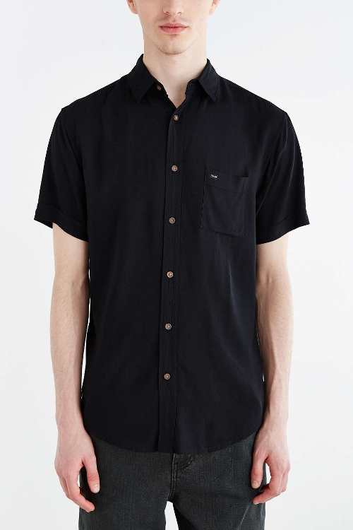 Short-Sleeve Button-Down Shirt by Globe Goodstock in The D Train