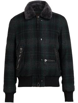Tartan Fur Collar Jacket by Lanvin in Couple's Retreat