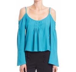 Sultry Cold-Shoulder Top by Nanette Lepore in Fuller House