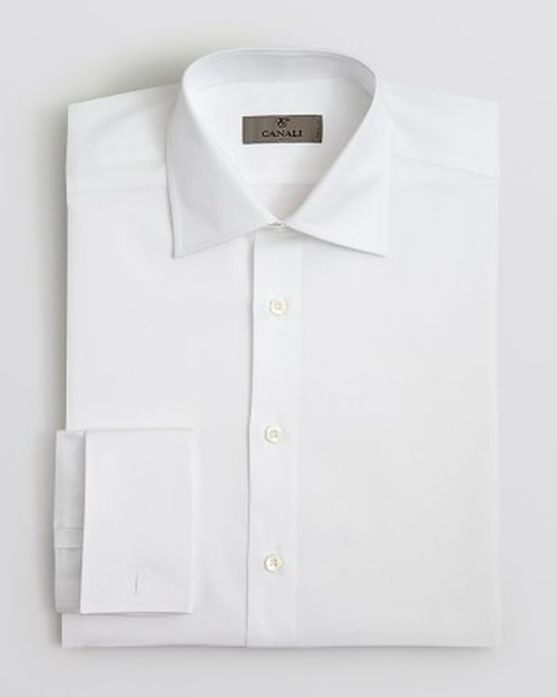 Solid French Cuff Dress Shirt by Canali in She's Funny That Way