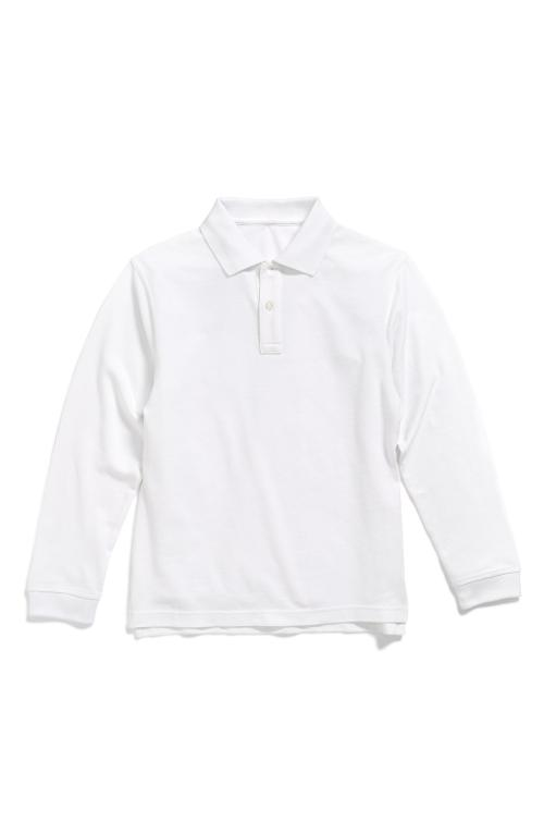 'Uniform' Long Sleeve Polo by Nordstrom in Unbroken