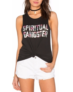 SG Hibiscus Fill Muscle Tank Top by Spiritual Gangster in Power Rangers