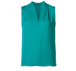V-Neck Blouse by Elie Tahari in Rosewood