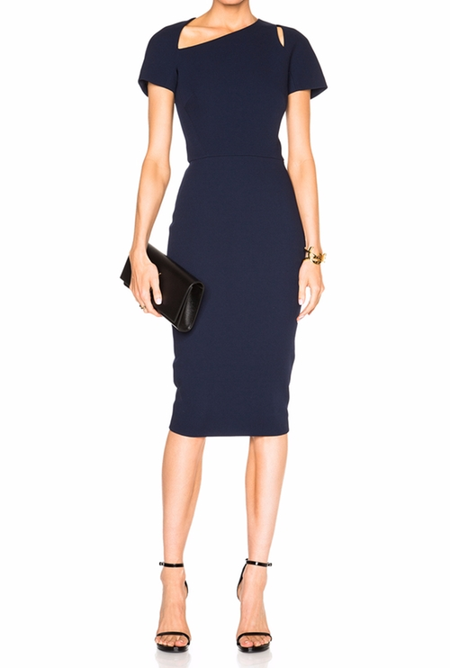 Cap Sleeve Cut Out Dress by Victoria Beckham in Conviction - Season 1 Preview