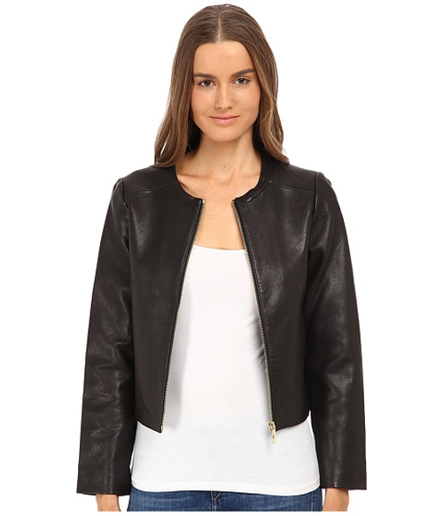 Zip-Up Leather Jacket by Kate Spade New York in Captain America: Civil War