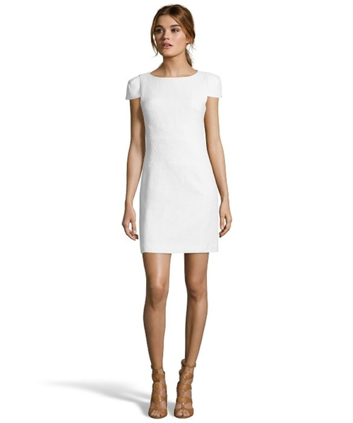Basket Weave Cap Sleeve Fitted Dress by 4. Collective in Sixteen Candles