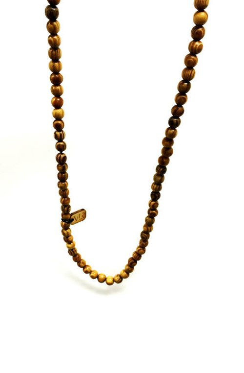 Tiger Wood Beaded Necklace by Vallour in The Secret Life of Walter Mitty