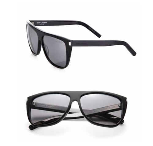SL1 Oversize Flattop Sunglasses by Saint Laurent in Keeping Up With The Kardashians - Season 12 Episode 10